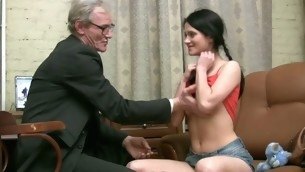 Gung-ho patriarch teacher copulates nasty chick senseless