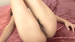 Sweet hole be advisable for cutie stimulated at the end of one's tether vibrator and banged hard