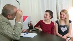 In show to pass her exam hottie is delighting her teacher's unearth