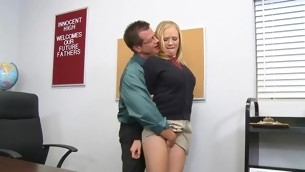 Schoolgirl gets a stormy hardcore fuck detach from her teacher