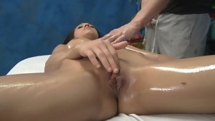 Erotic sexy honey copulates and sucks her massage therapeutist