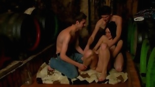 Wild nubiles are getting their needs well off forth threesome sex