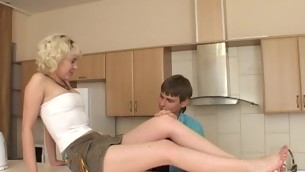 Filthy aureate bonks non-stop just concerning partner and cums many times